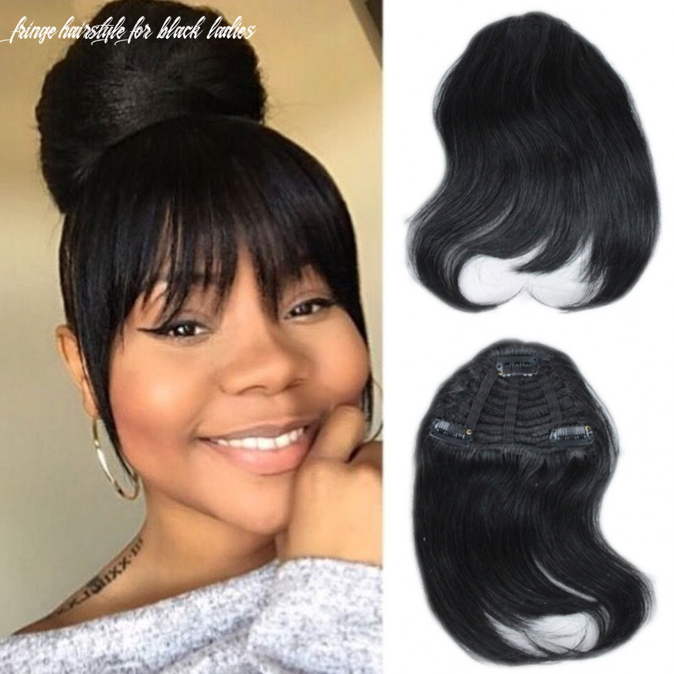 Mtai human hair bangs clip on real hair for black women black color hair bangs extensions fringe hairstyle for black ladies