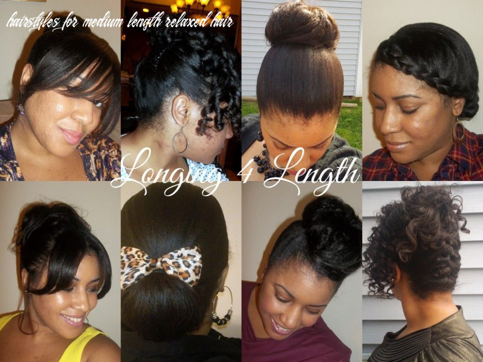 My favorite protective hairstyles of 10 | relaxed hair, short