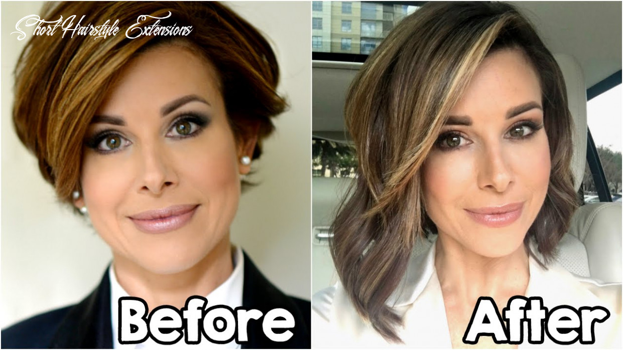 My new hair extensions   short to long bob short hairstyle extensions