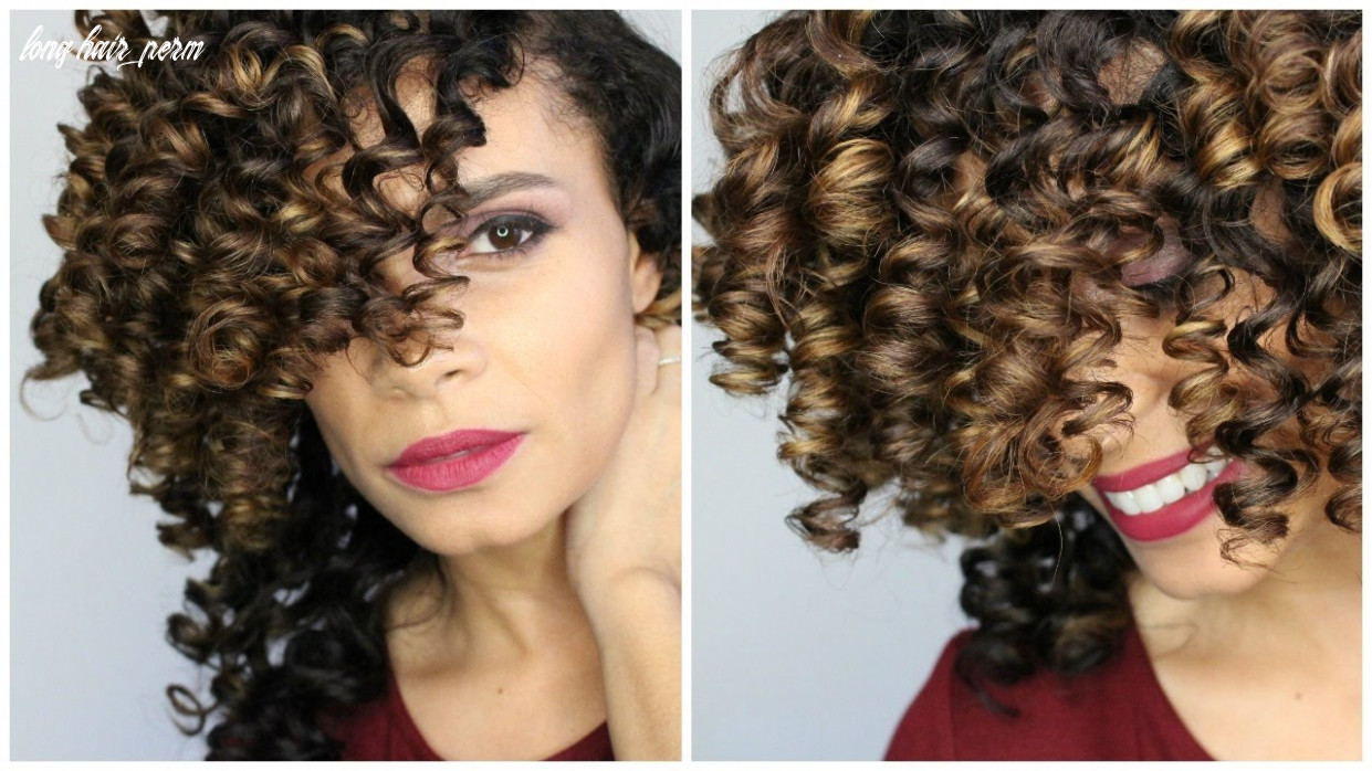 Natural hair: perfect curls using small perm rods on long hair long hair perm
