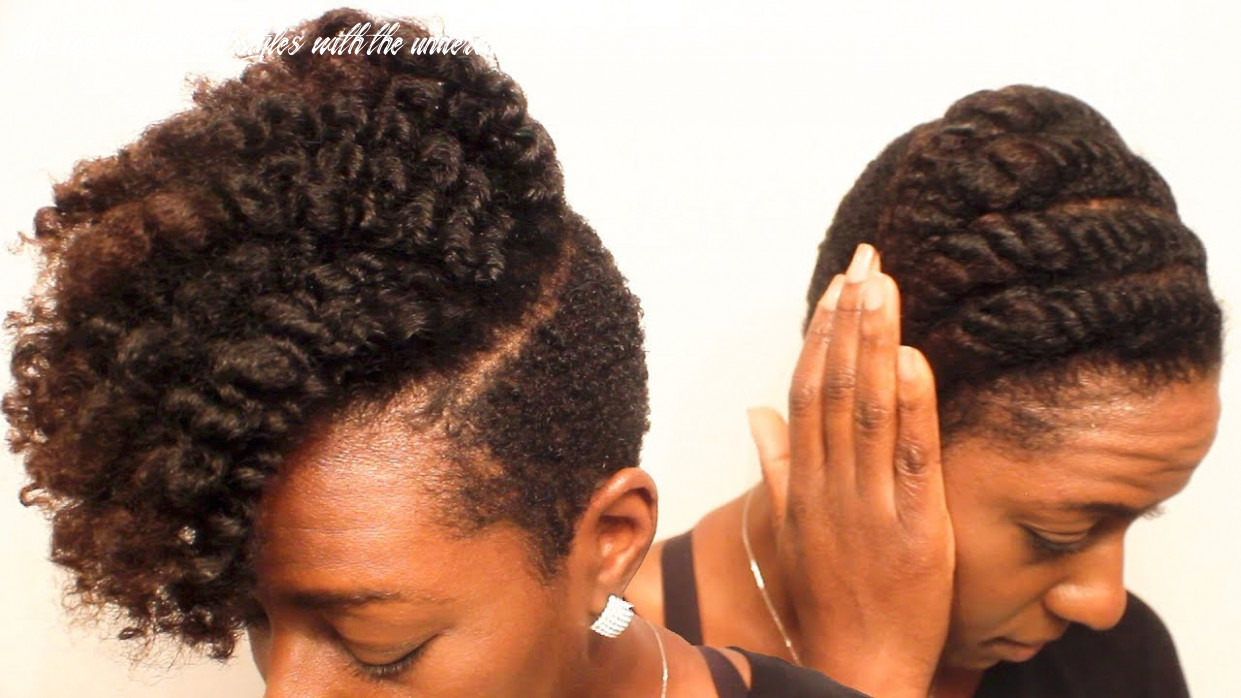 Natural hair| the defined flat twist on tapered/undercut curly hair tapered natural hairstyles with the undercut