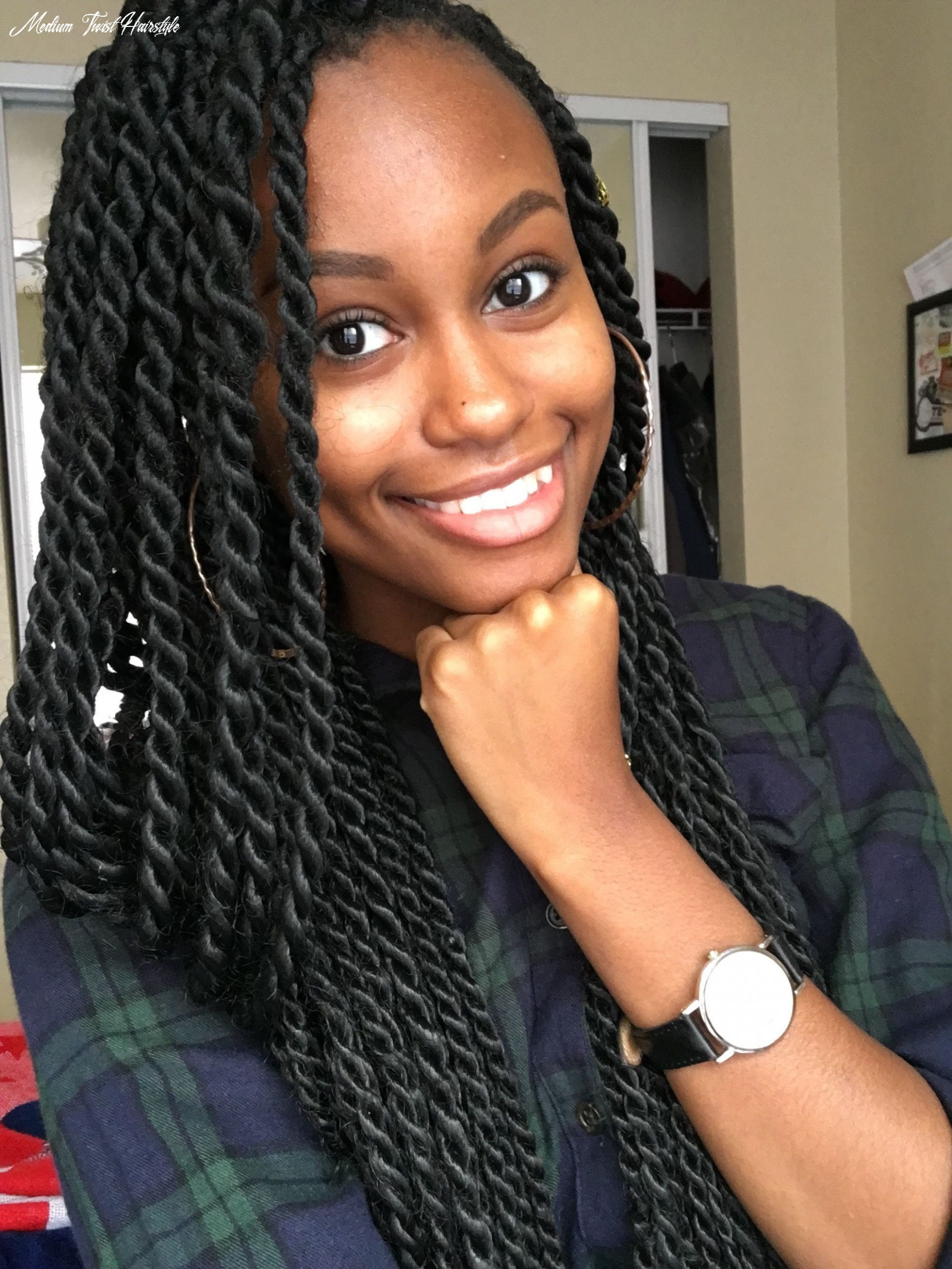 Natural hairstyles. Protective hairstyles. Medium sized long ...