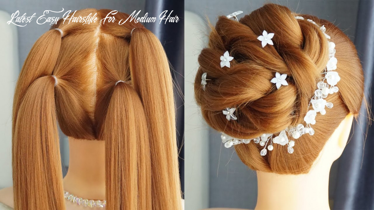 New Latest Bun Hairstyle With Trick – Prom Hairstyles Updos Easy ...