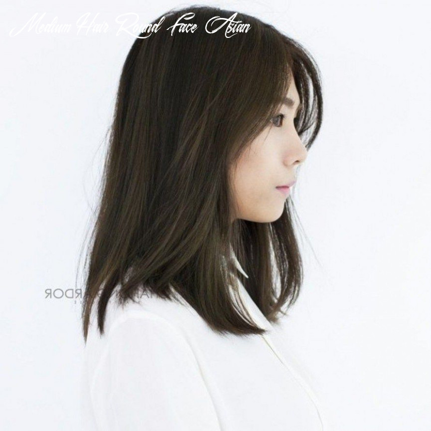 New medium length korean hairstyle for round face to try in 10