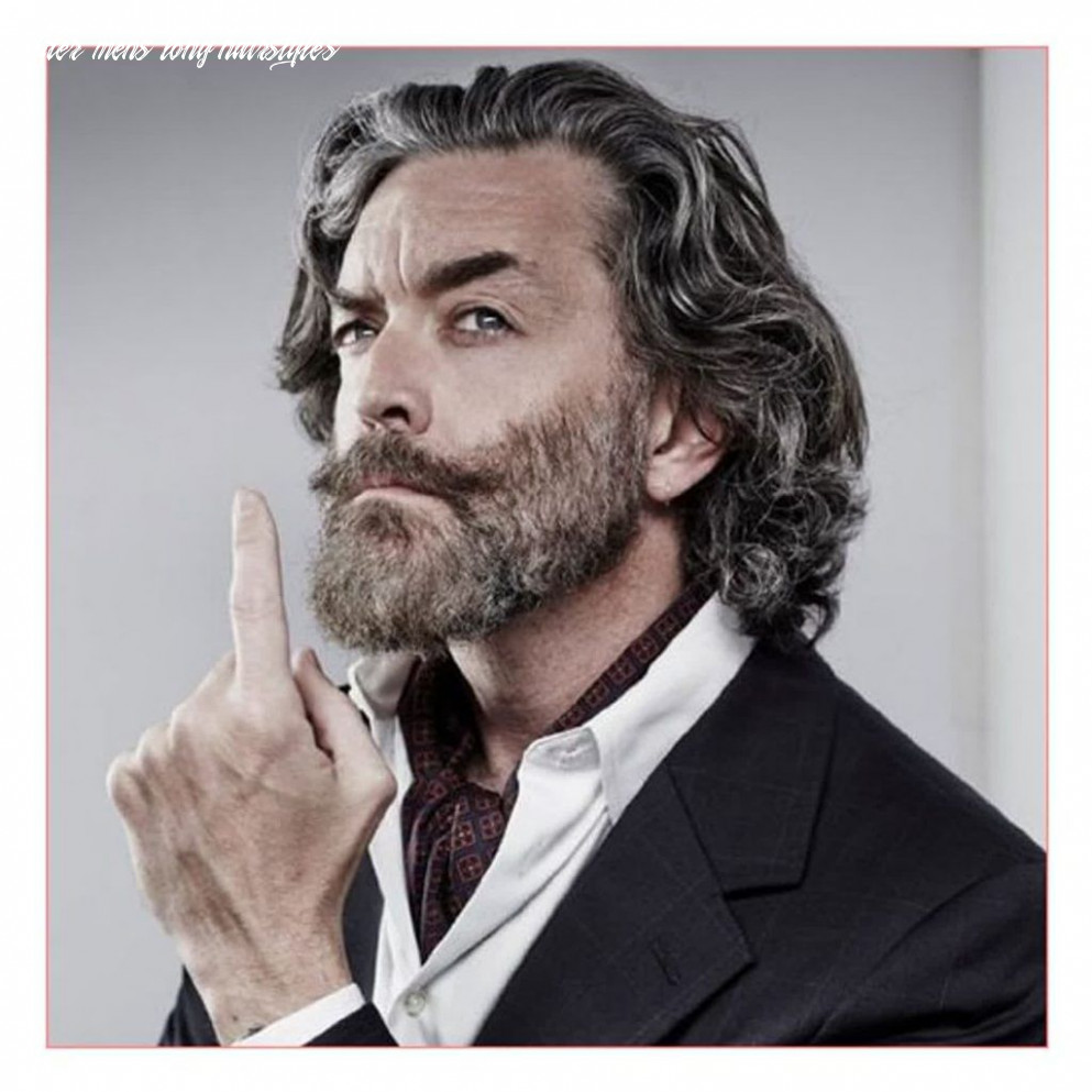 New model with long hairstyles for the older man | older mens