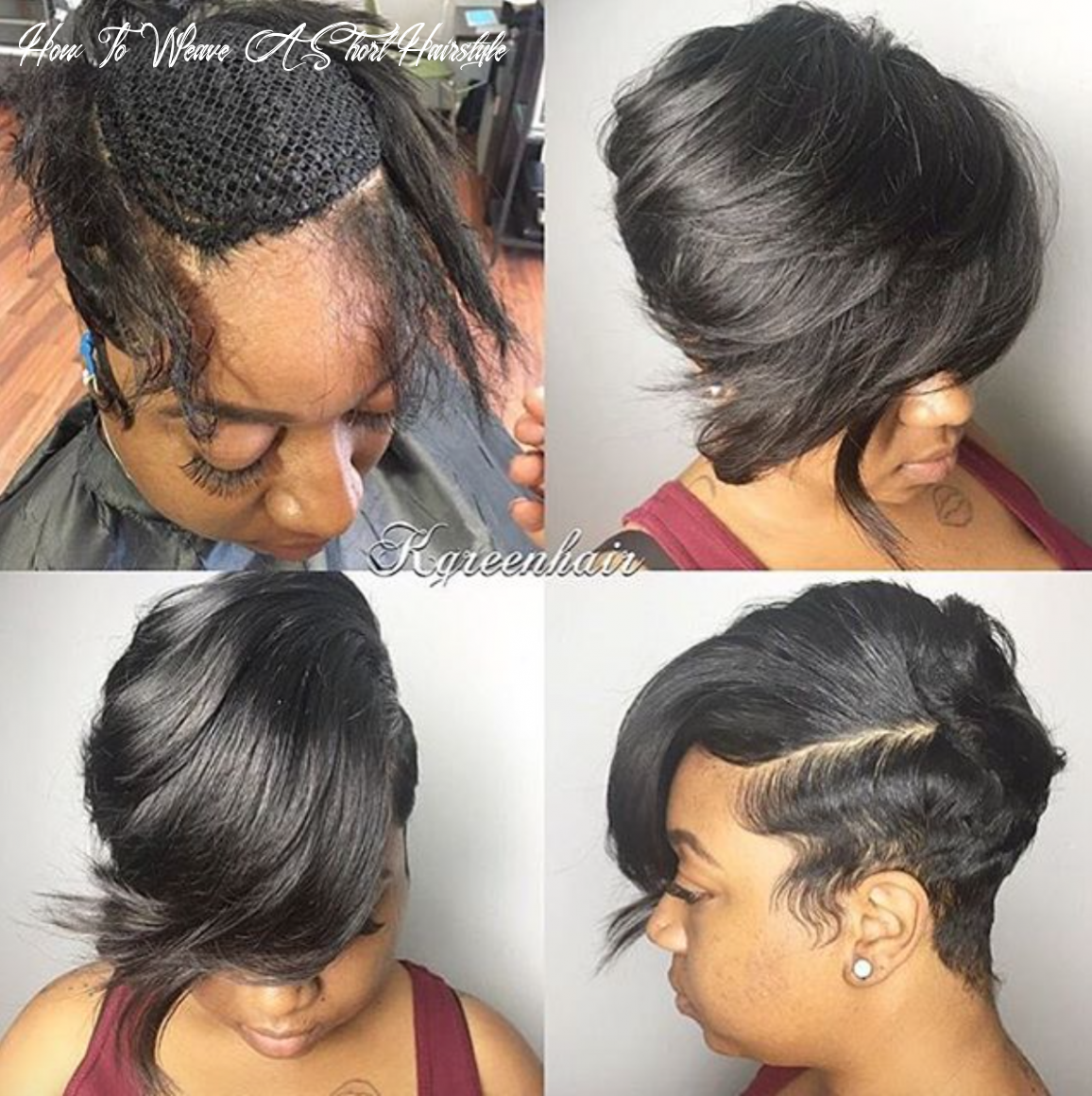 Nice short sew in by @k green hair read the article here http