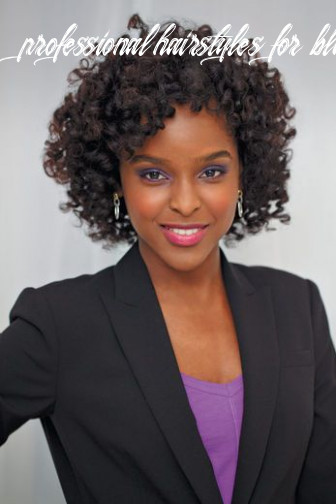 Office chic | short natural curly hair, professional natural