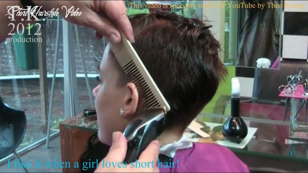 Oh, that feels good!!! short haircut by theo knoop 10 short hairstyle video