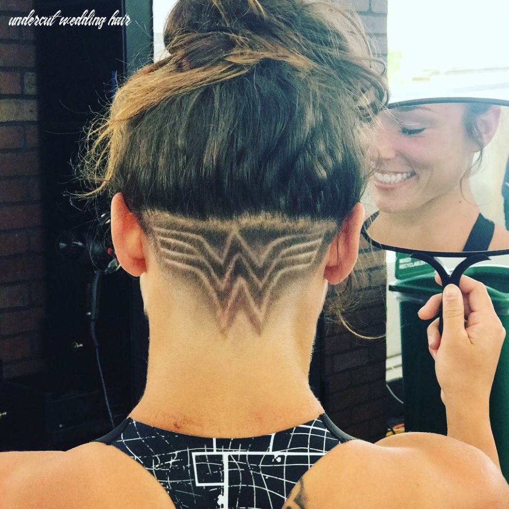 Oh to be this brave! | Undercut long hair, Shaved hair designs ...