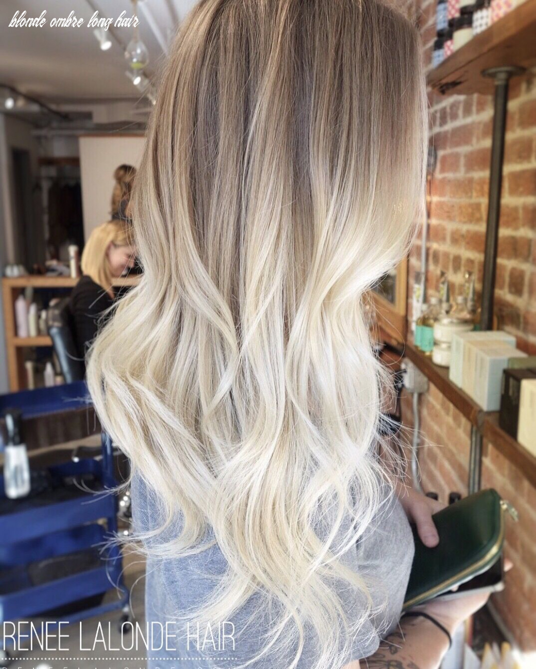 Ombre balayage platinum blonde long hair | haarfarben, frisuren