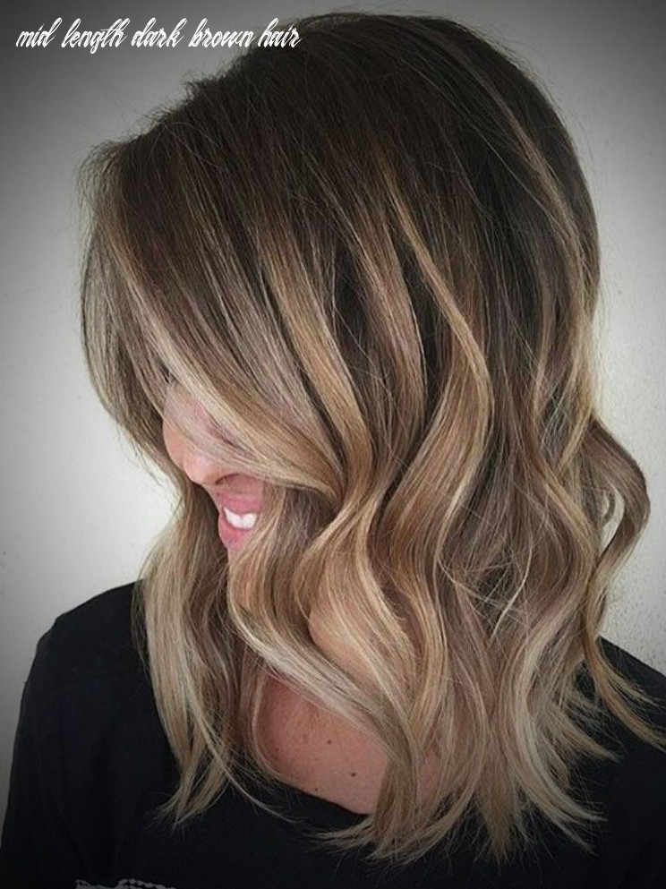 Ombre hair dark brown to blonde medium length archives