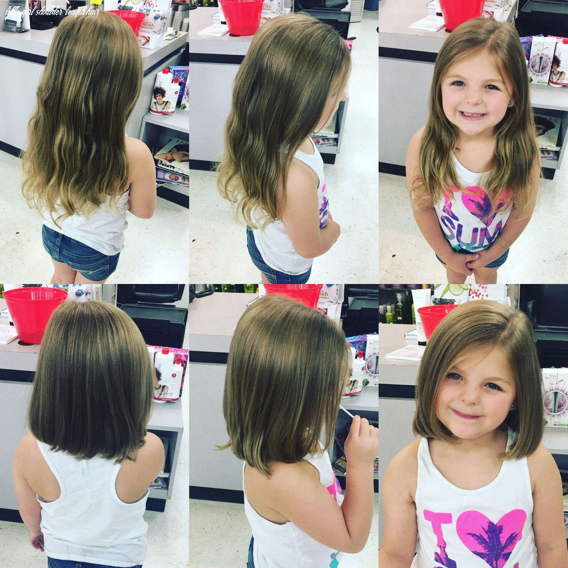 Perfect back to school haircut for little girl shoulder length
