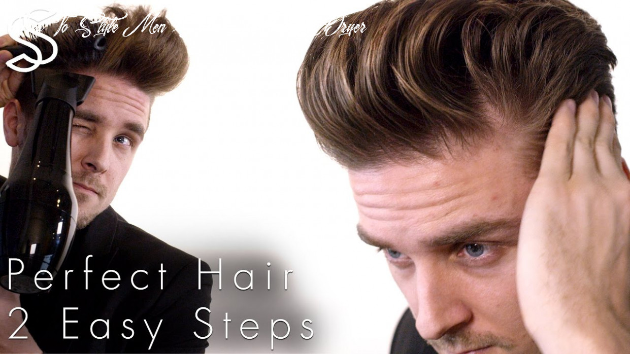 Perfect Blow-dry and Quiff hairstyle techniques + NEW fiber wax test men
