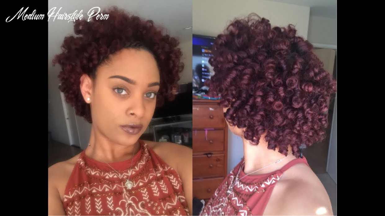 Perm rod set on short/medium length natural hair using hydratherma naturals medium hairstyle perm