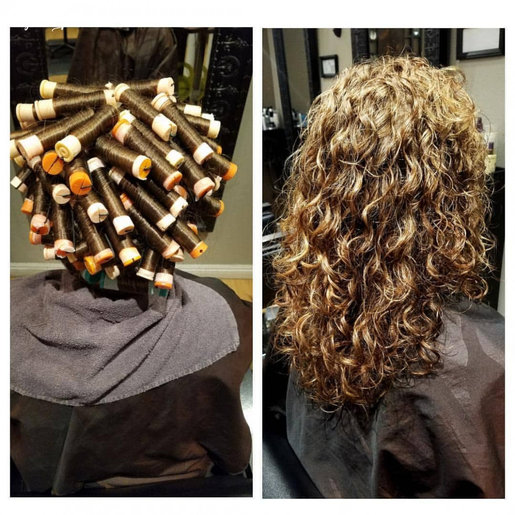Perms are back!!! Spiral wrap on long hair. #curlyhair #perm ...