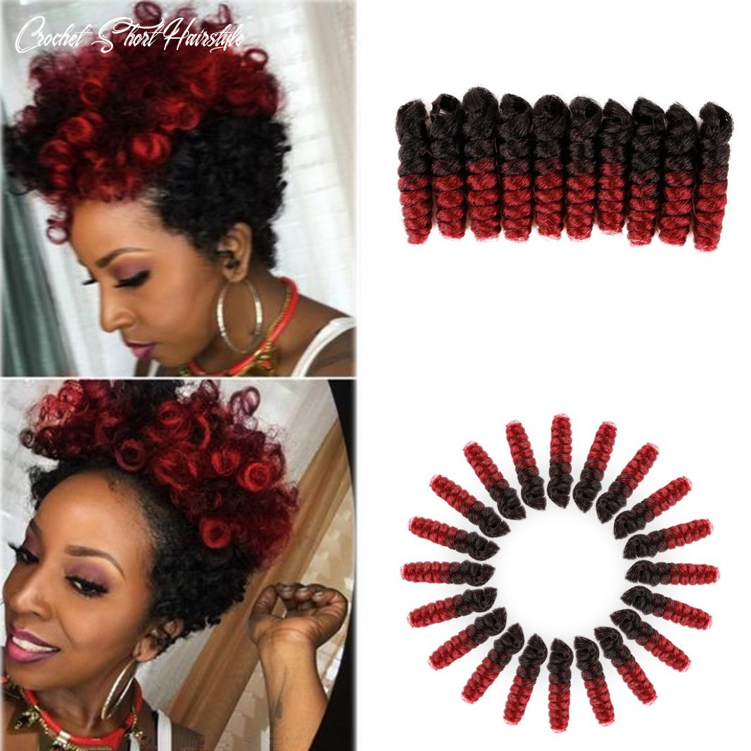 PHOCAS HairPhocas 8 Pack 8 inch Toni Curl Short Jumpy Wand Curl Weave  Crochet Braids Afro Curl Synthetic Hair Extensions for Women (8mm)#8B/BUG