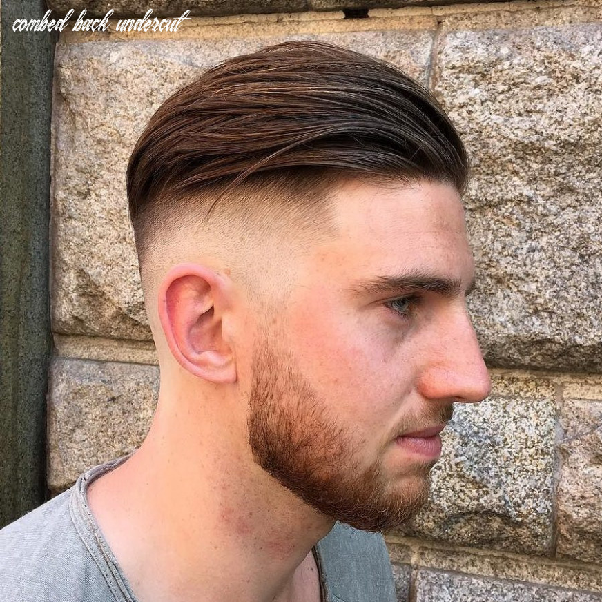 Picture of a disconnected combed back undercut and a beard is a