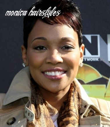 Pictures : monica hairstyles monica short haircut with block
