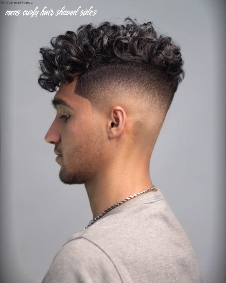 Pin auf 9 mens hairstyle mens curly hair shaved sides