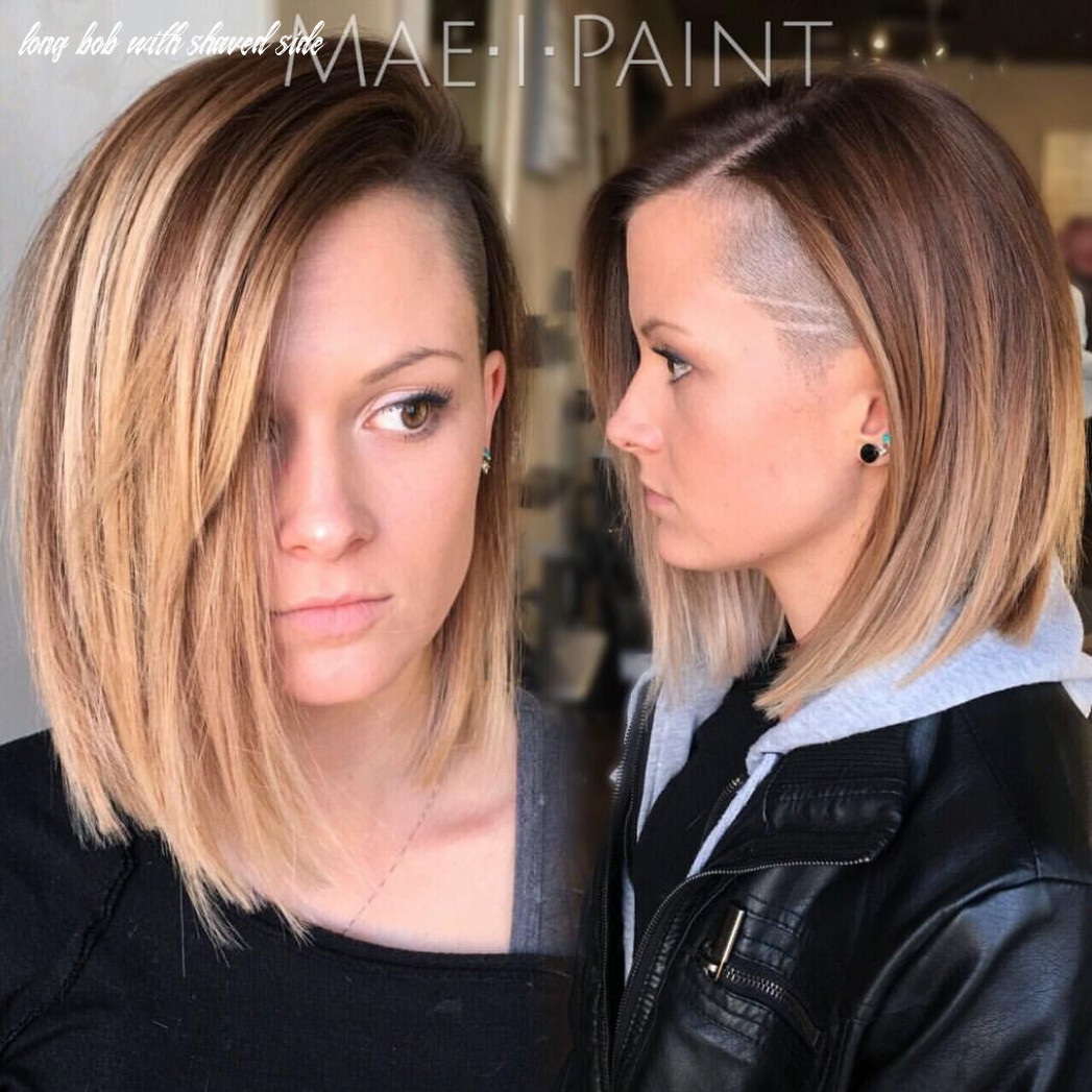 Pin auf hair long bob with shaved side