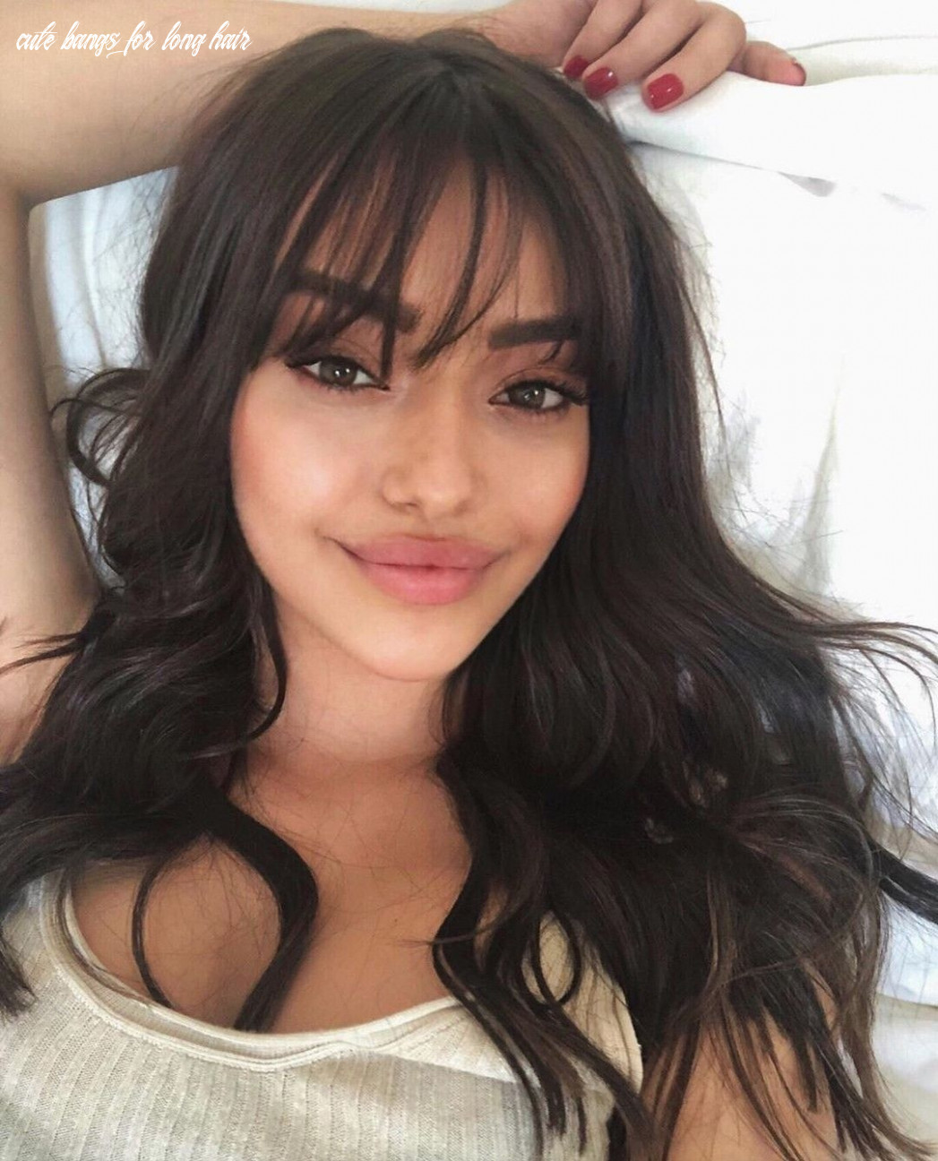 Pin by Heillys Cátala on Likes in 8   Long hair with bangs ...
