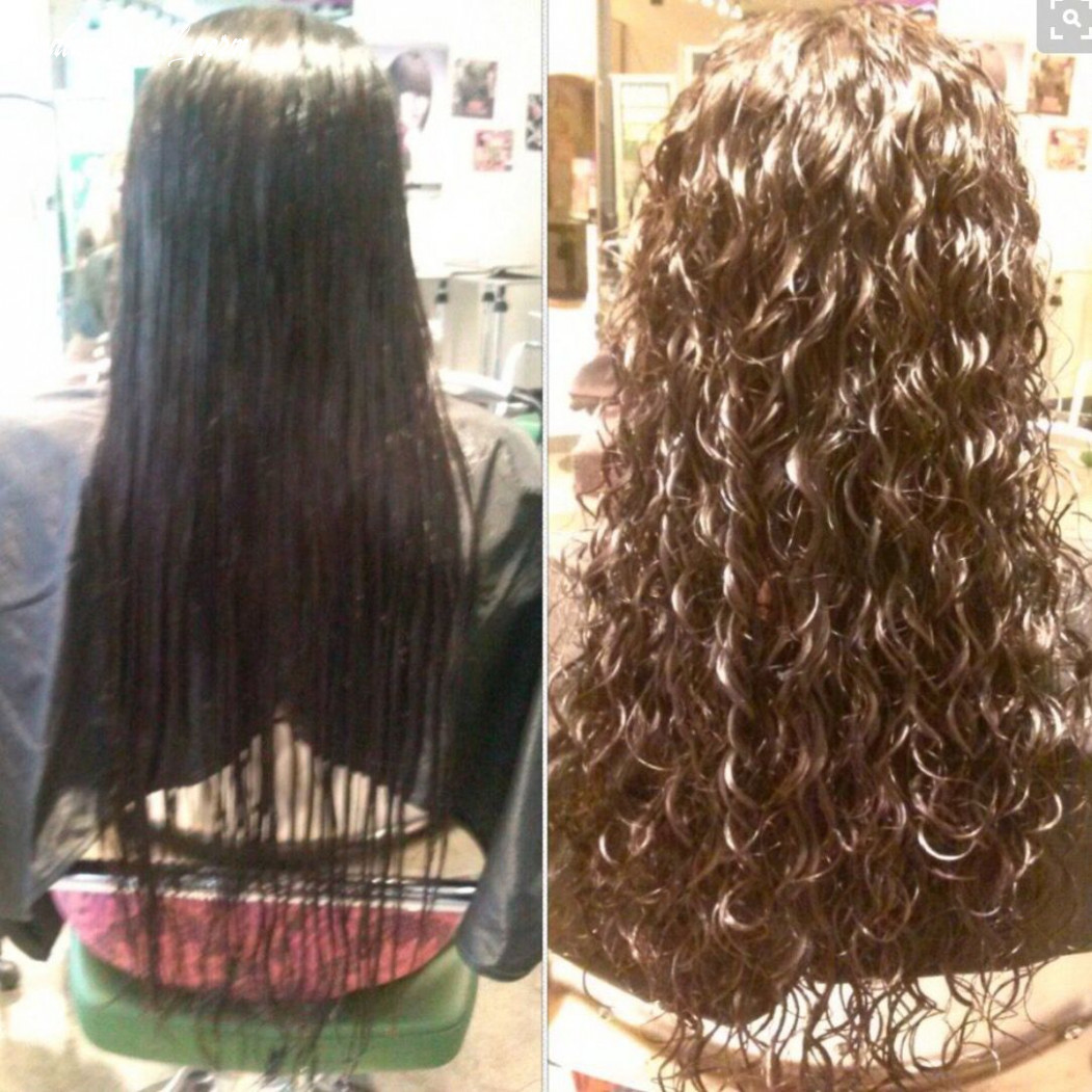 Pin by katelyn elliott on perms | long hair perm, permed