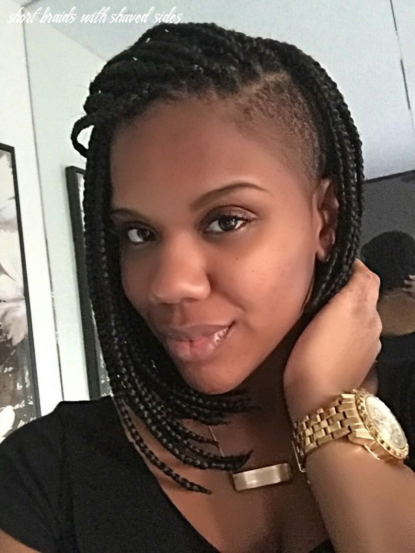 Pin by mali wallace on hair | braids with shaved sides, box braids