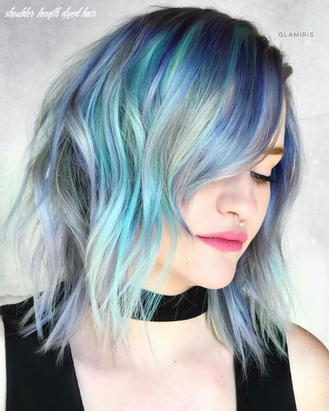 Pin by nonie chang on dyed hair   hairstyles with bangs, shoulder