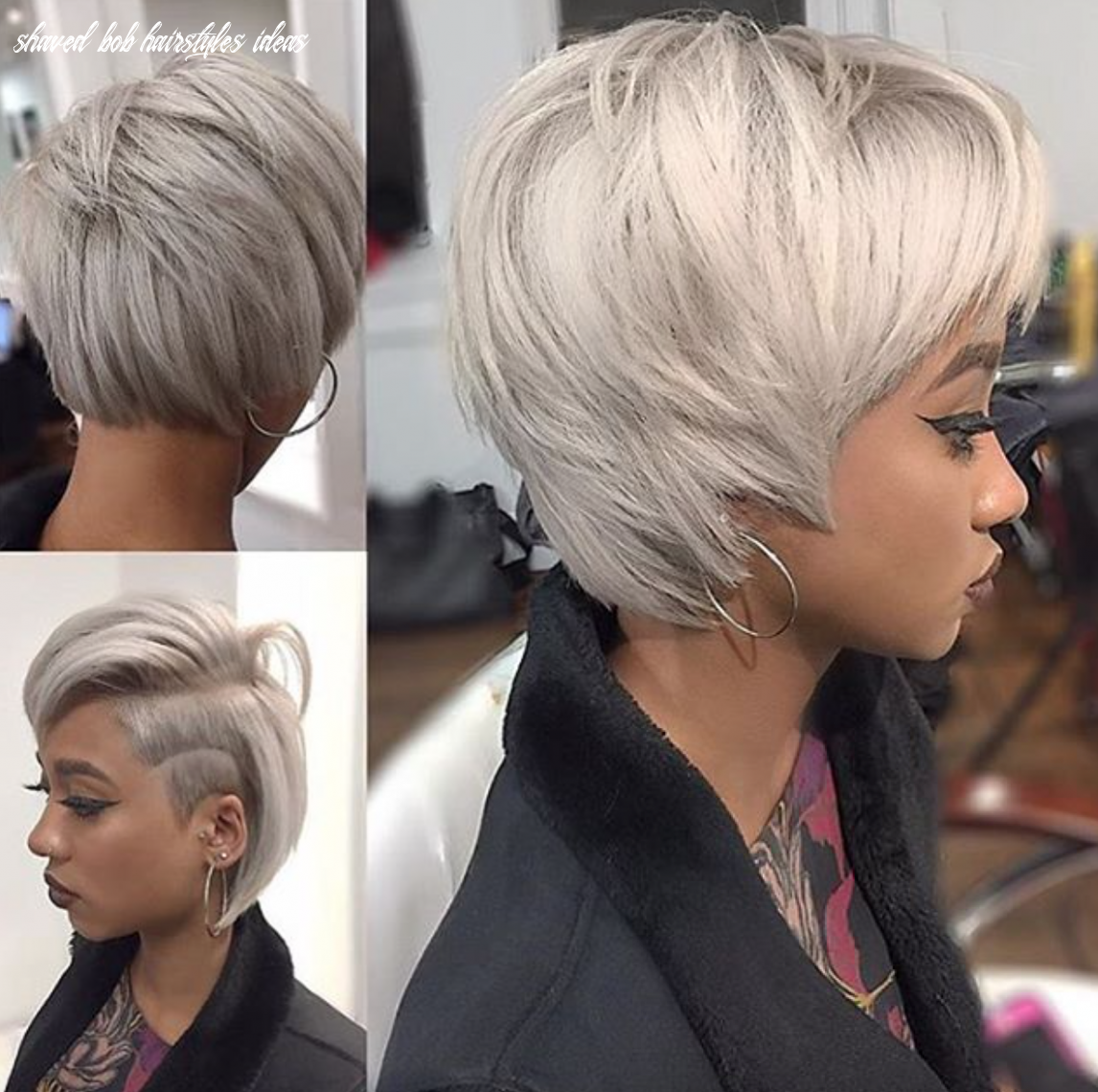 Pin by sabrina on shaved side | bob hairstyles, angled bob