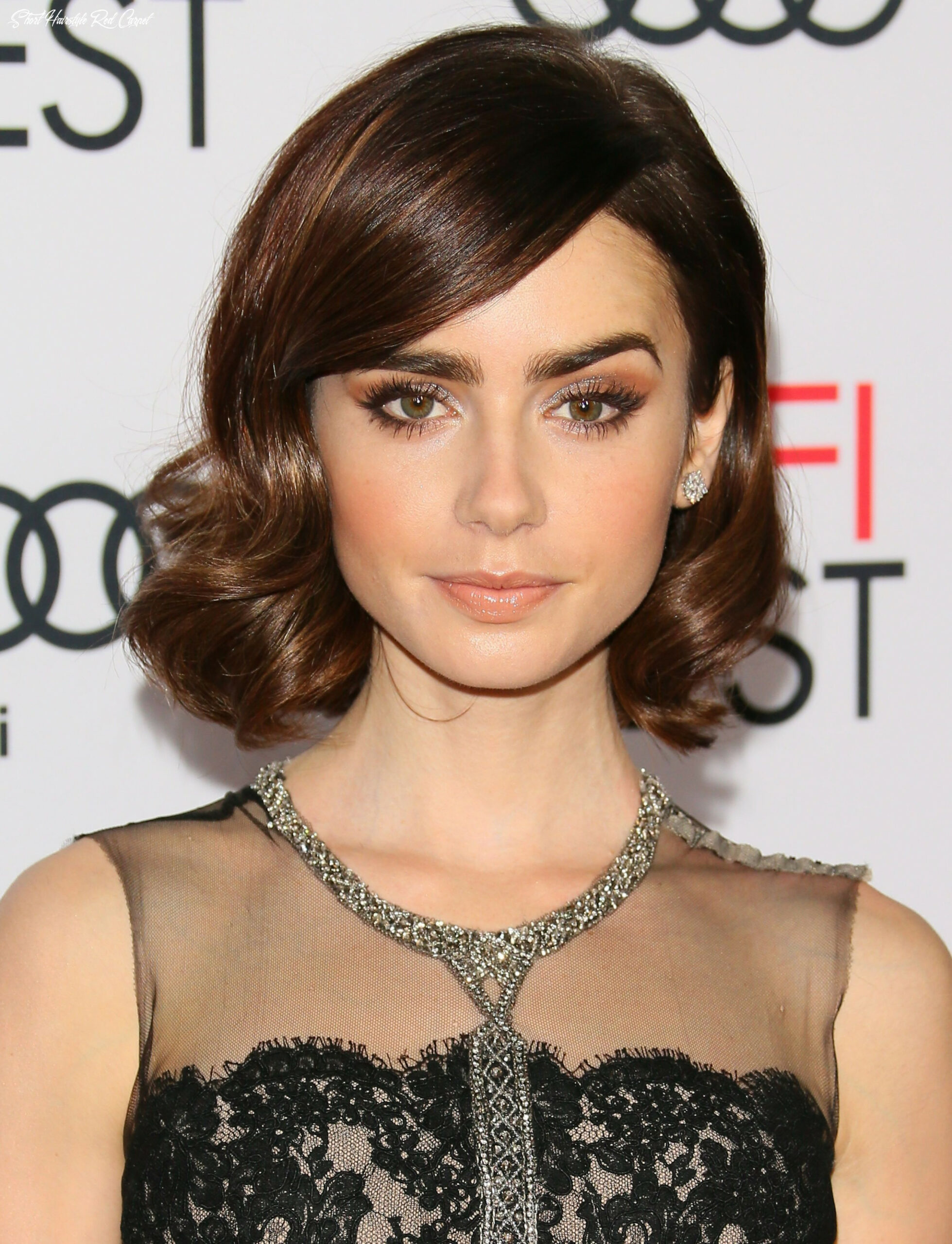 Pin by sepideh on make up   lily collins hair, short hair styles