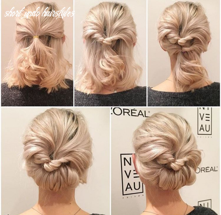 Pin by serena on hairstyle ideas | short hair updo, short hair