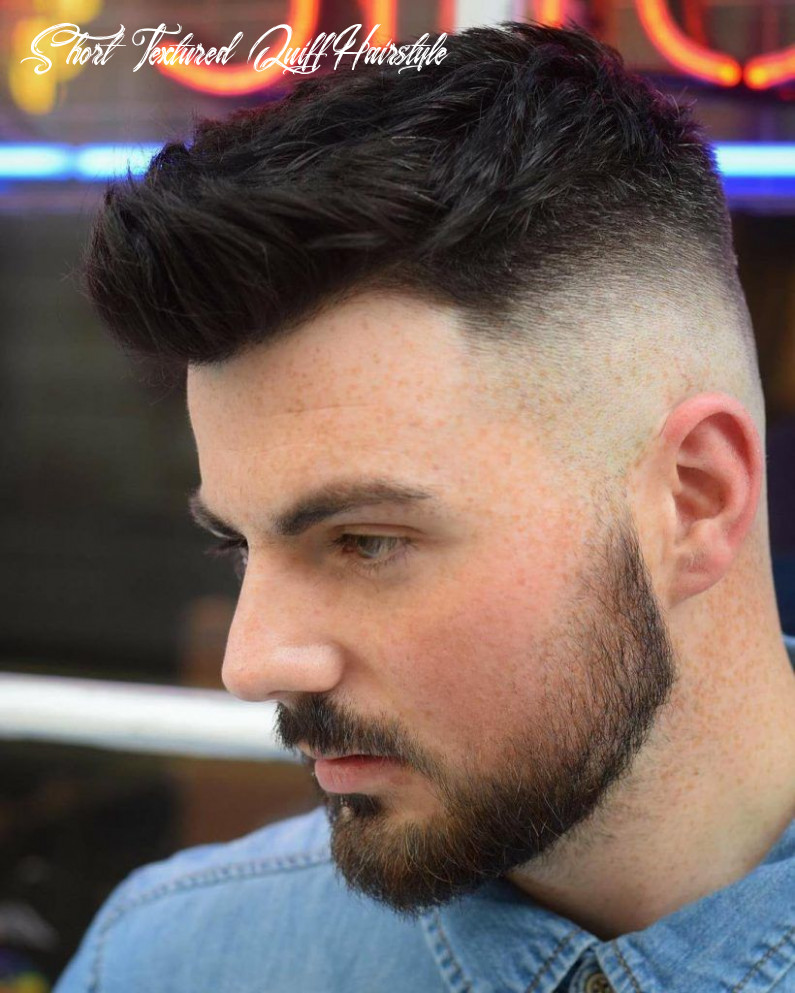 Pin em hair and makeup short textured quiff hairstyle