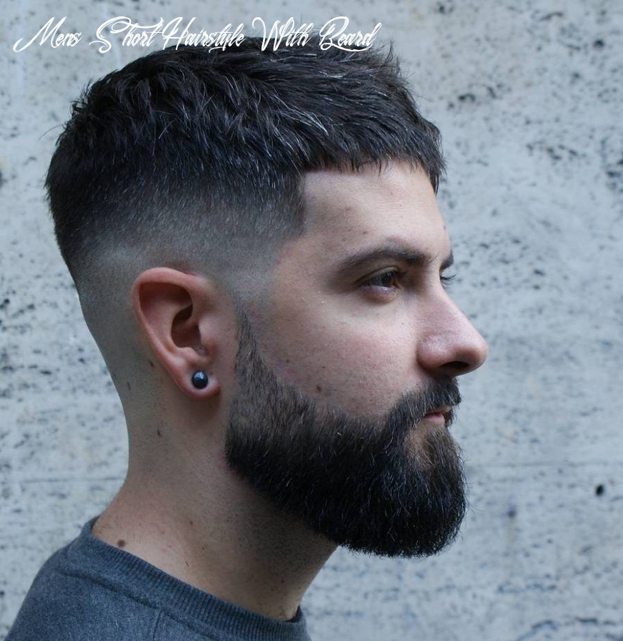 Pin em stylo mens short hairstyle with beard