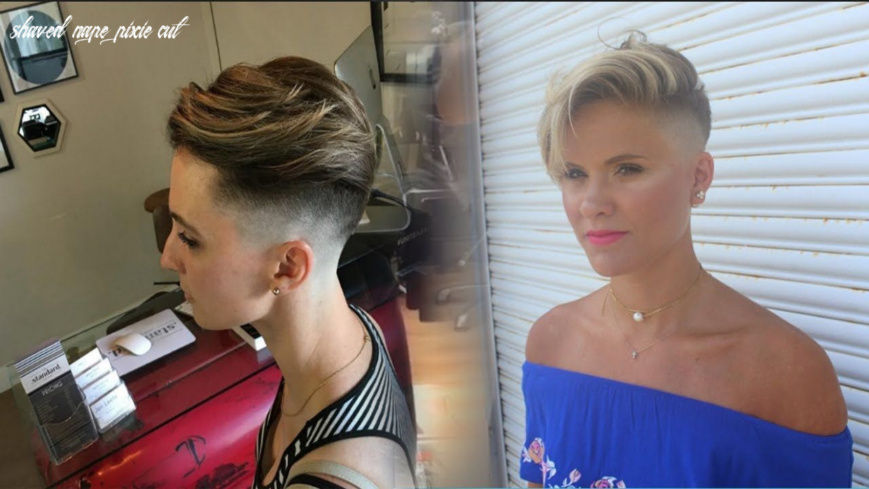 Pin on 11 makeovers (videos) 11 shaved nape pixie cut