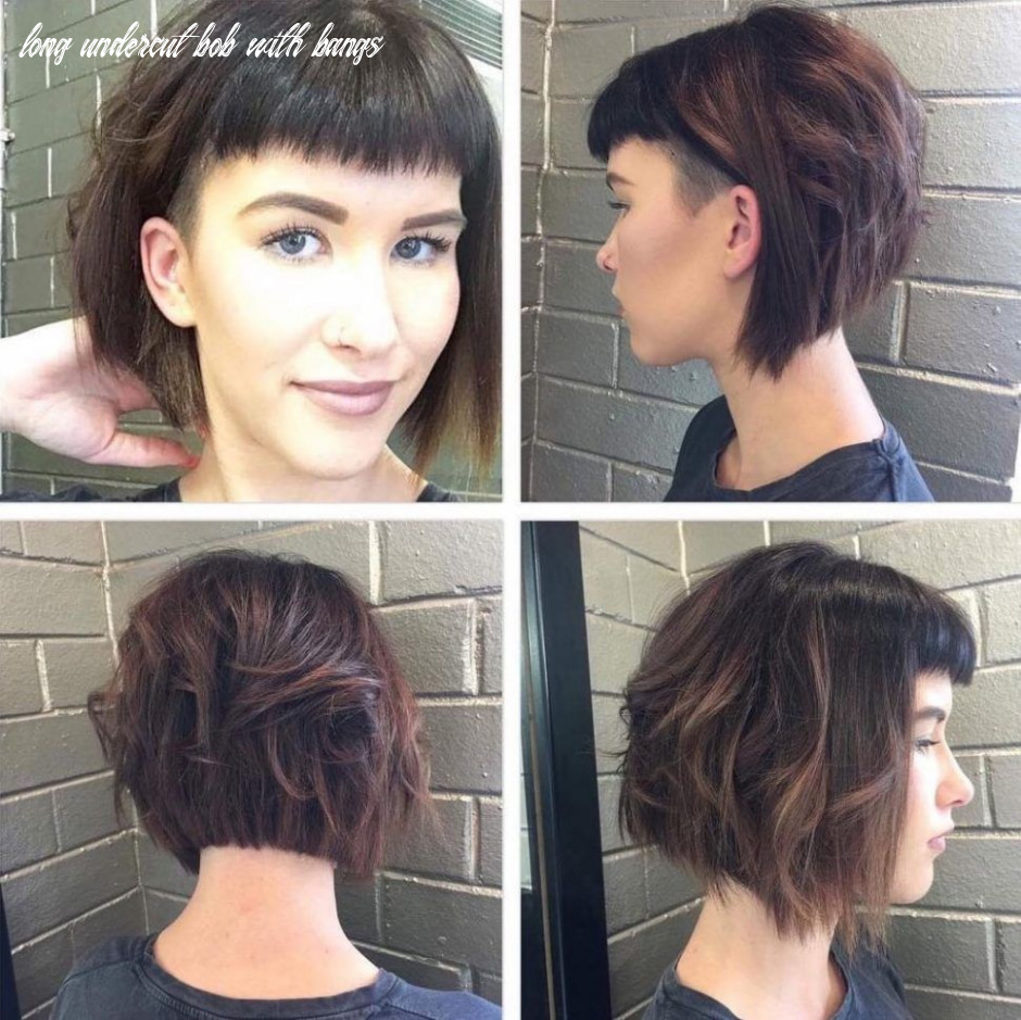 Pin on all the hair long undercut bob with bangs