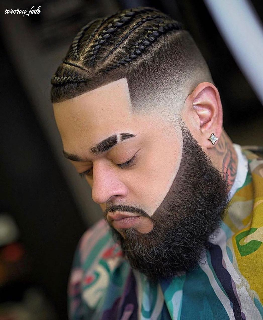 Pin on barber capes cornrow fade