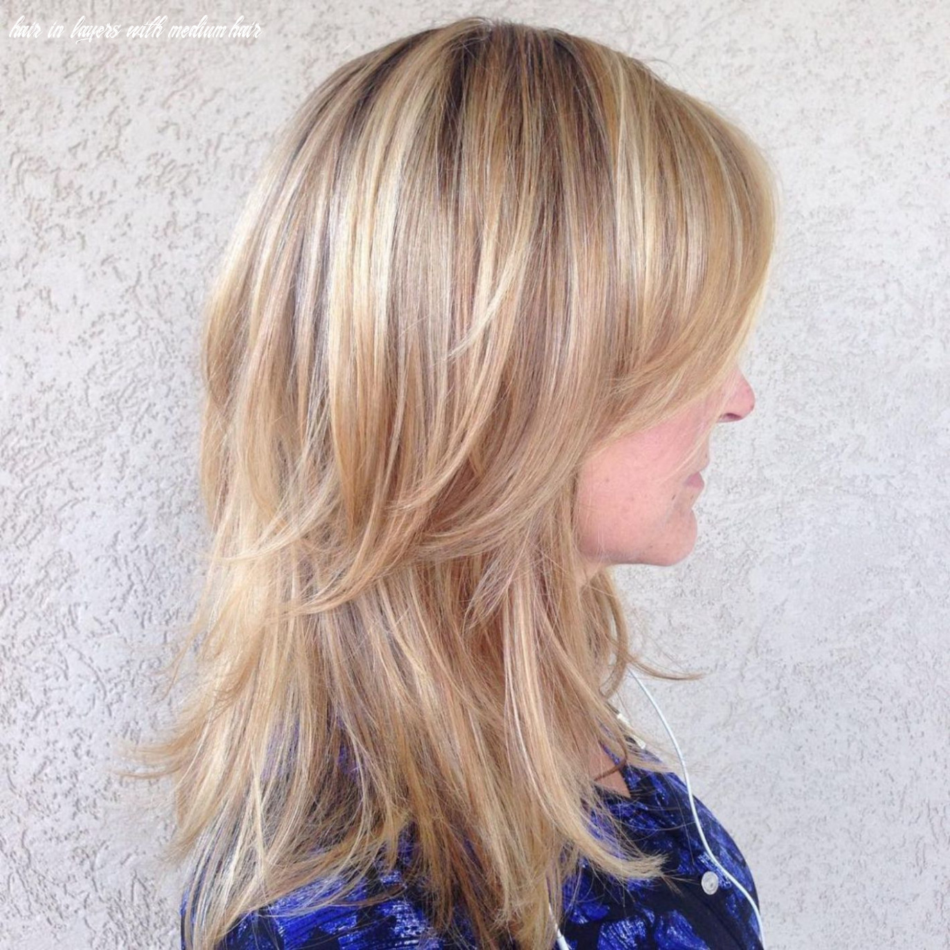 Pin on beauty hair in layers with medium hair