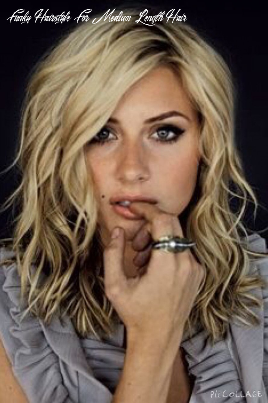 Pin on beauty inward and out funky hairstyle for medium length hair