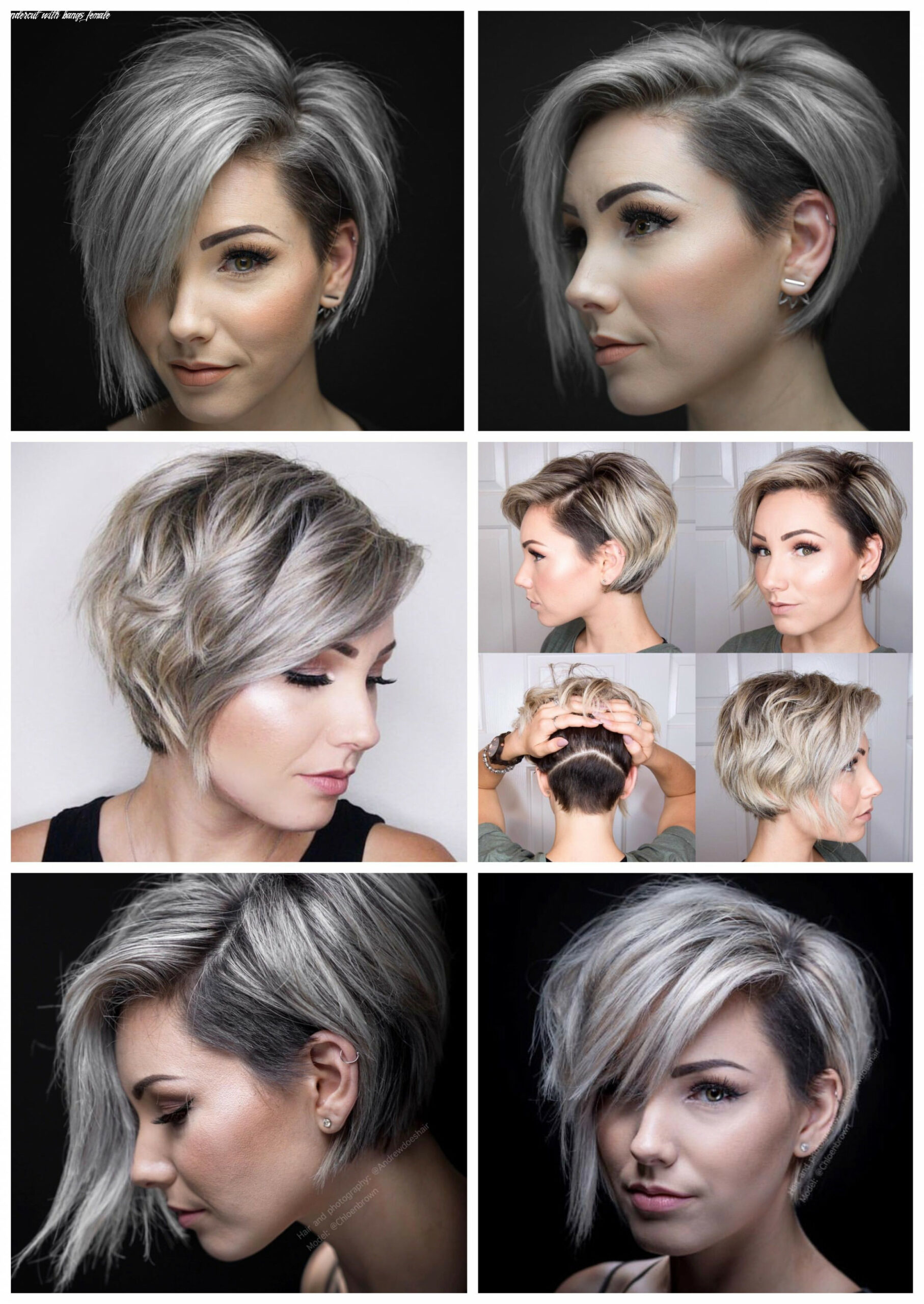 Pin on beauty undercut with bangs female