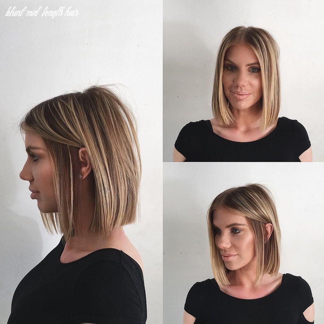 Pin on bobs & mid length cuts blunt mid length hair