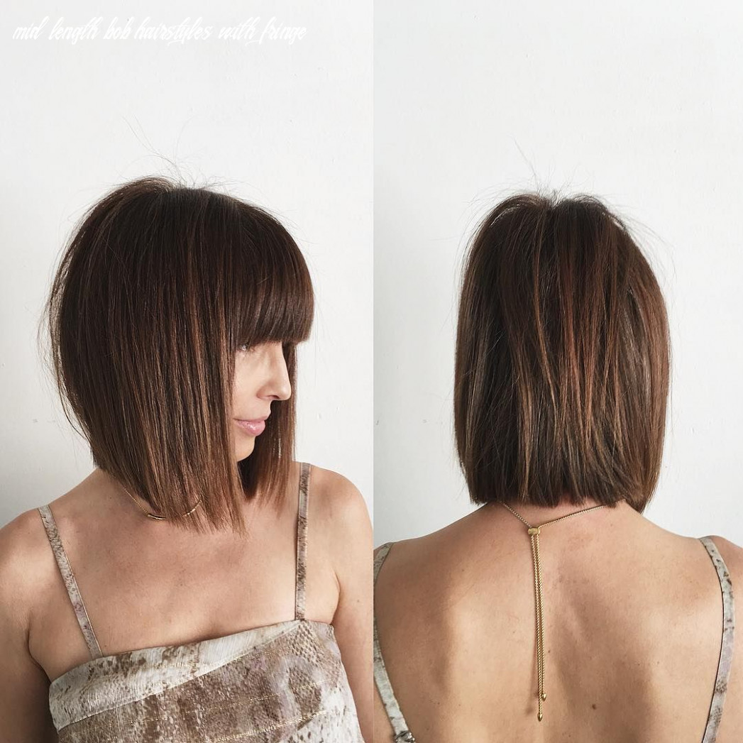 Pin on bobs & mid length cuts mid length bob hairstyles with fringe