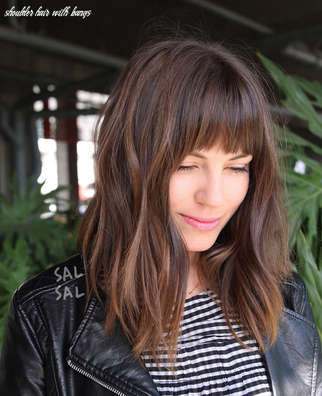 Pin on bobs & mid length cuts shoulder hair with bangs