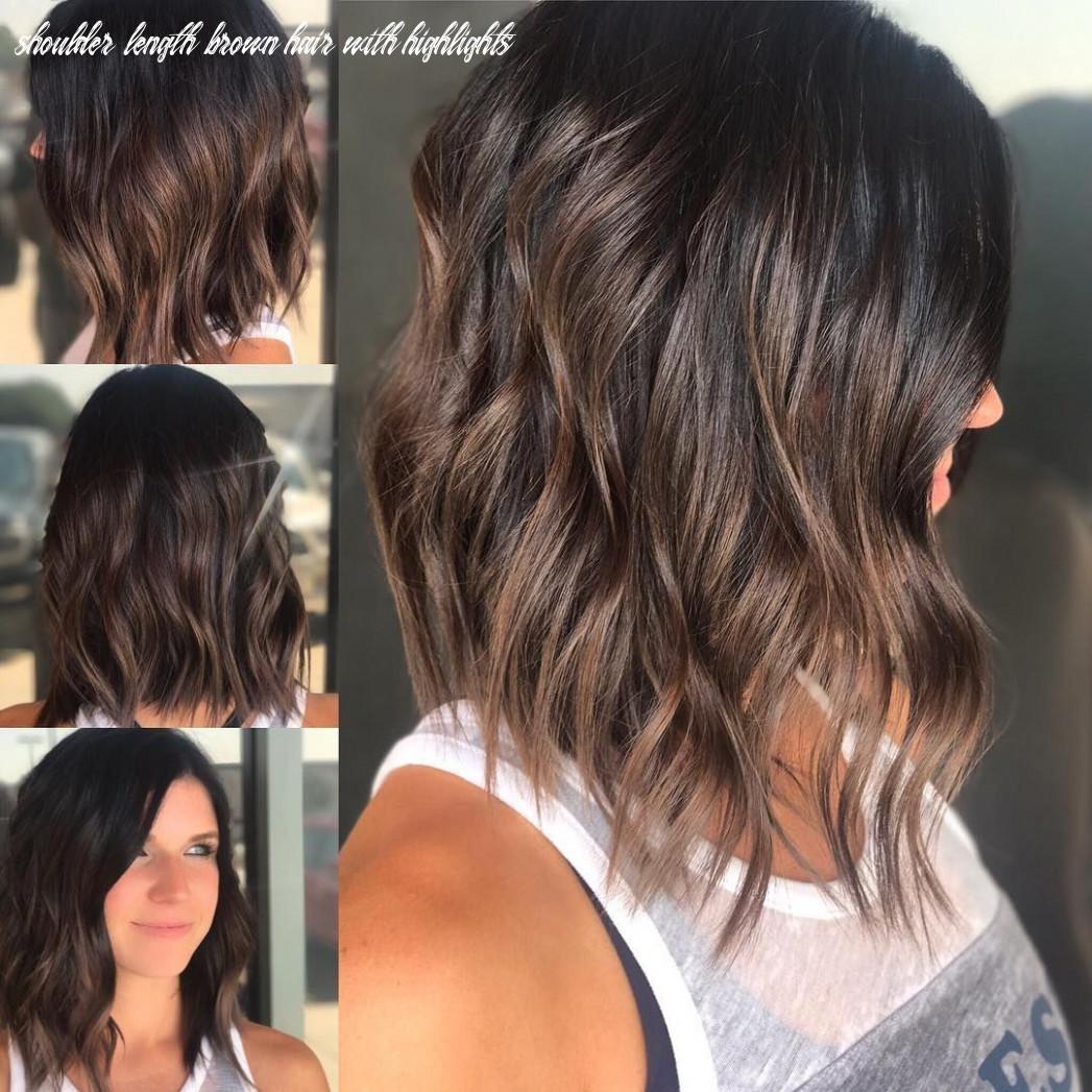 Pin on bobs & mid length cuts shoulder length brown hair with highlights