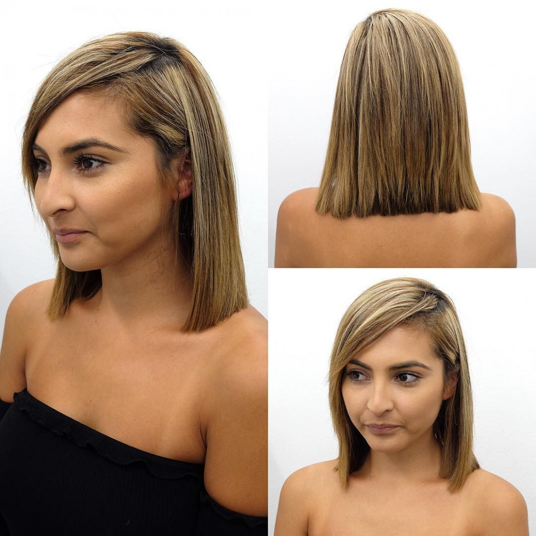 Pin on bobs & mid length cuts shoulder length hairstyles with side bangs