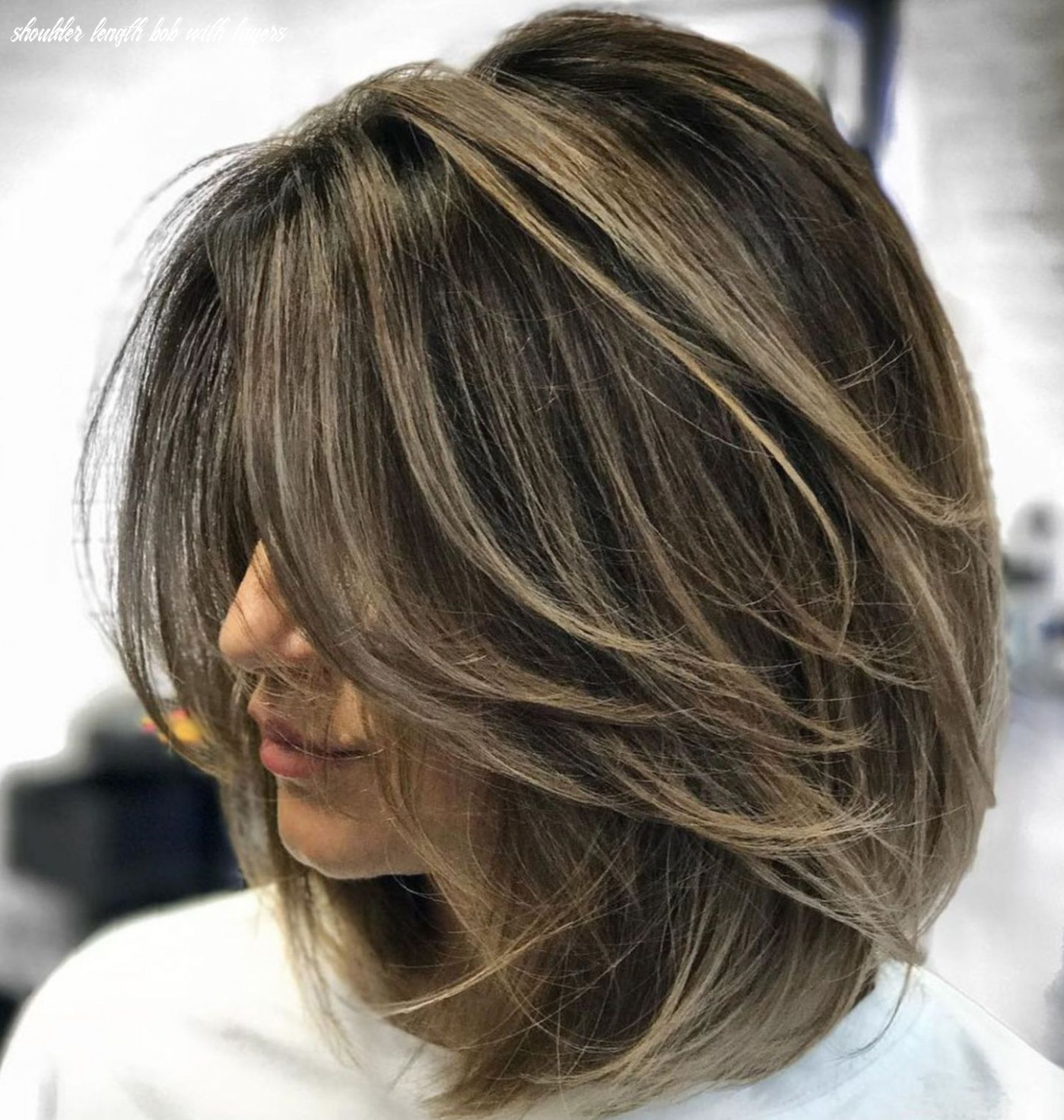 Pin on cabelos shoulder length bob with layers