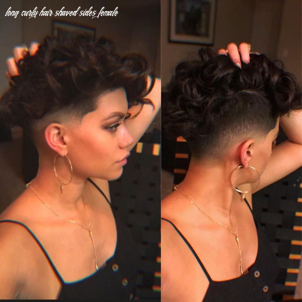 Pin on curly hair long curly hair shaved sides female