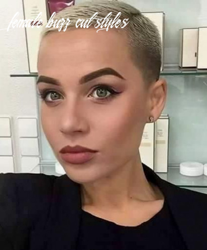 Pin on dos female buzz cut styles