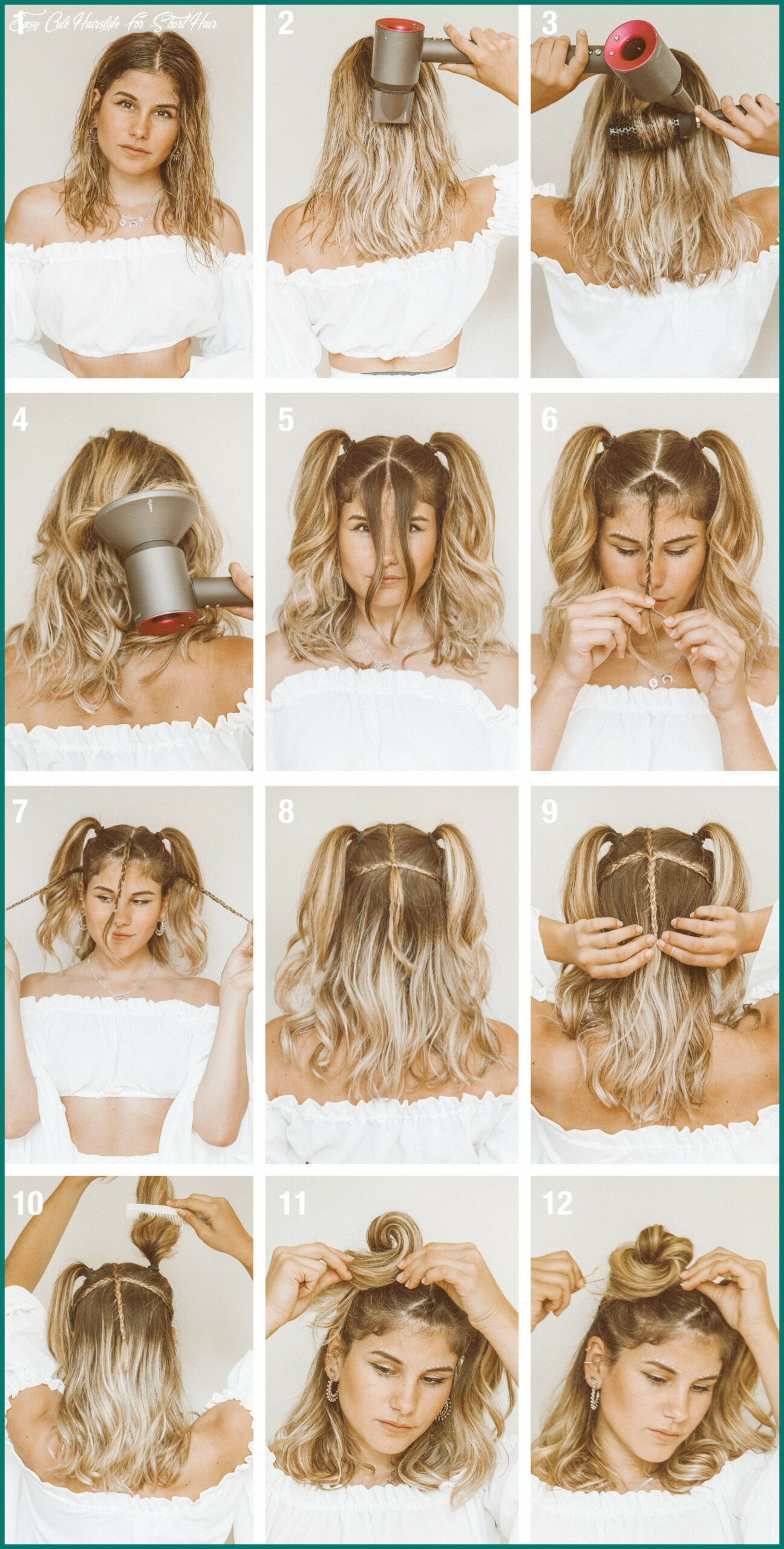 Pin on easy hairstyles easy cute hairstyle for short hair