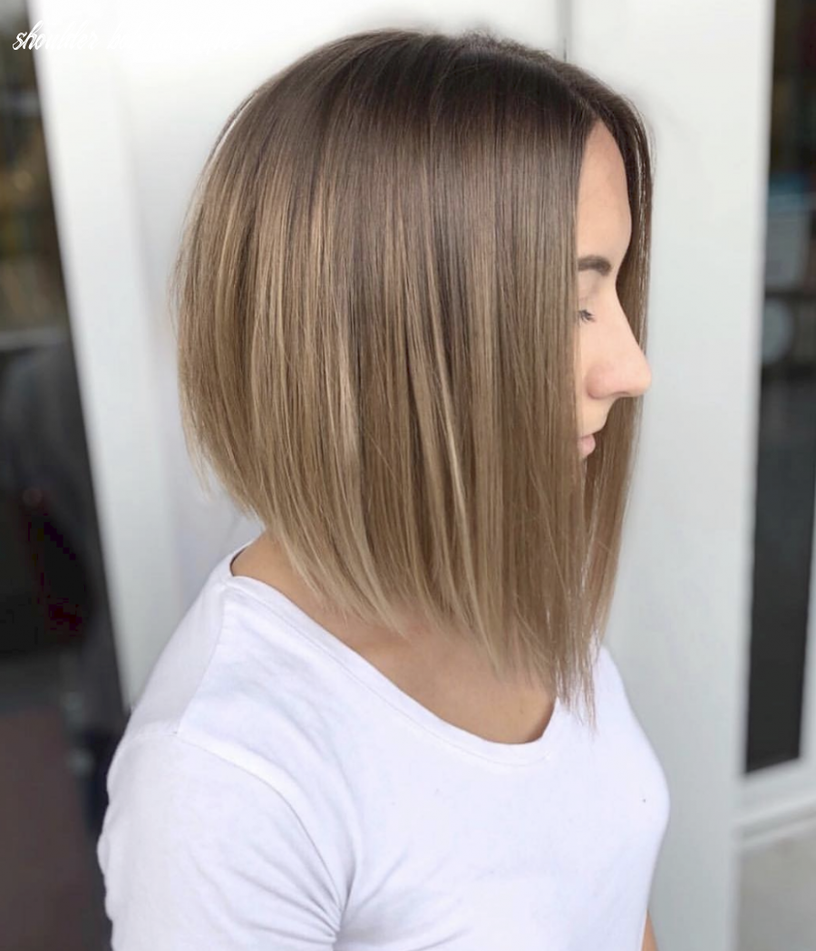Pin on everything hair   healthy hair tips inspiration shoulder bob hairstyles