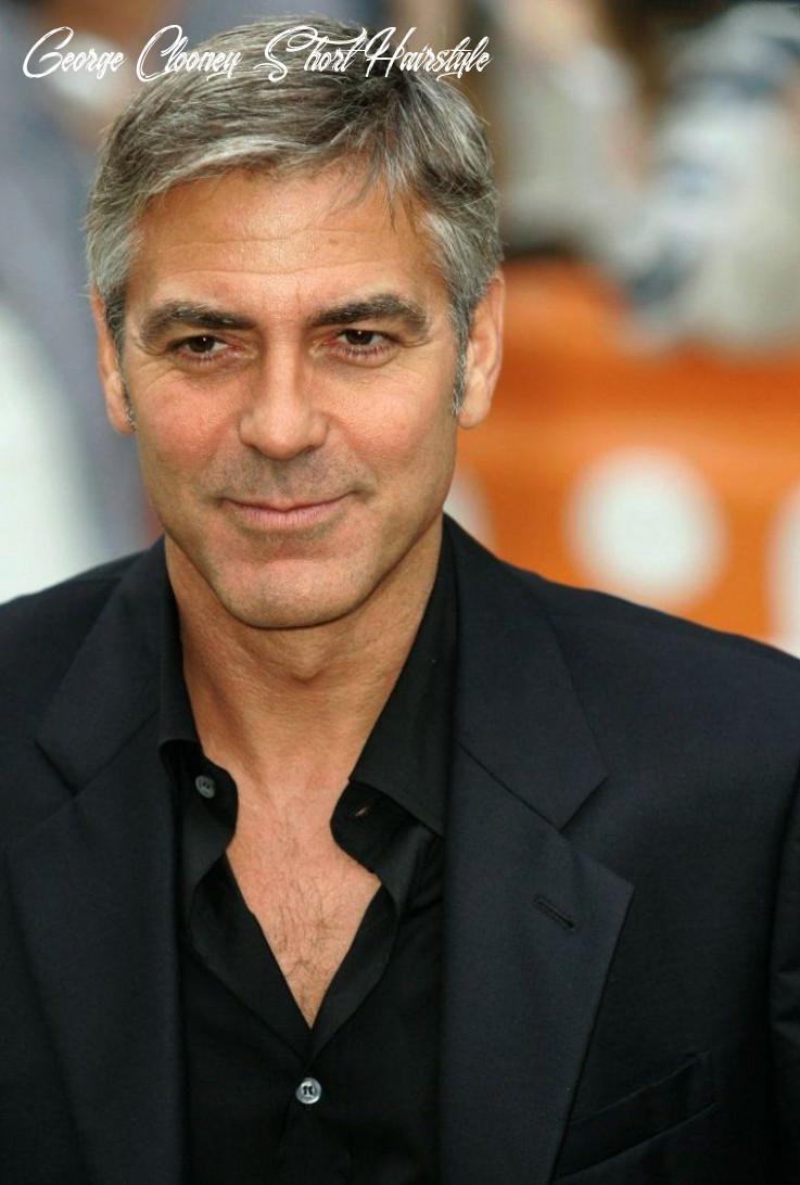 Pin on famous hair styles george clooney short hairstyle